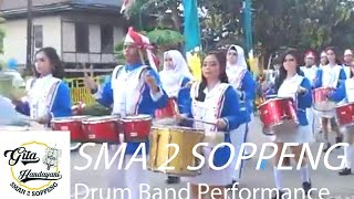 Video Drum Band SMA 2 SOPPENG (Smanca) at Celebrate day of Indonesia in Cangadi MP3, 3GP, MP4, WEBM, AVI, FLV Agustus 2018