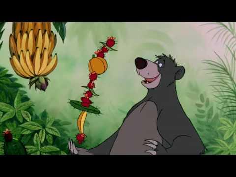 """Baloo synger: """"Det Rent Og Skært Nødvendige""""  Disney Klassiker Danmark"""