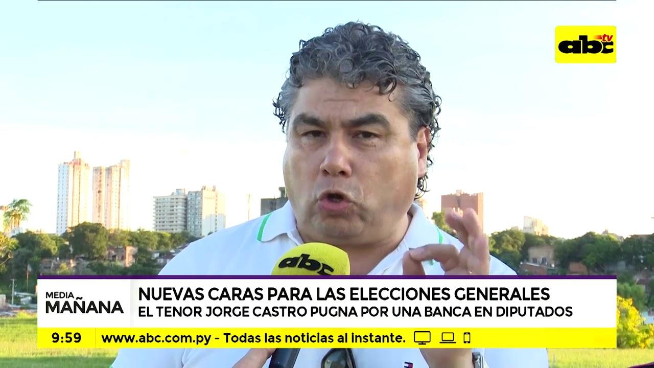 El tenor Jorge Castro puganará por una banca en Diputados