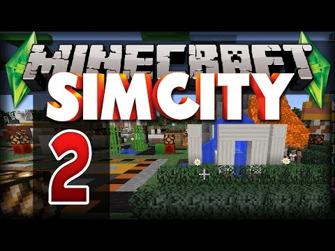 [2] Minecraft: SIM CITY! Volcano! Planes, Secrets! | Simburbia