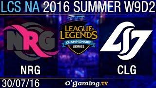 CLG vs NRG Esports - LCS NA Summer Split 2016 - W9D2