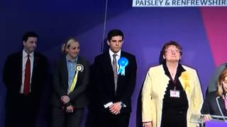 Renfrewshire United Kingdom  City pictures : General election 2015 Scotland vote count Renfrewshire South, douglas alexander & mhairi black