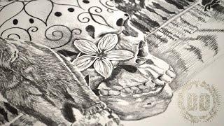 Video Custom Tattoo Design - Grizzly Bear & Sugar Skull MP3, 3GP, MP4, WEBM, AVI, FLV Juni 2018