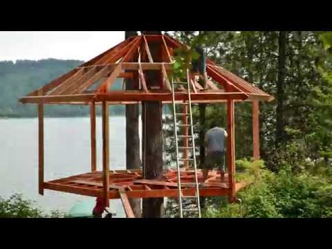 Beautiful Timelapse Of A Treehouse Being Built