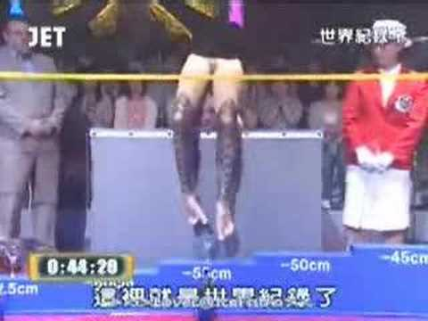 Una mujer muy flexible