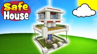 Minecraft Tutorial: How To Make A Modern Survival Mob Proof House 37% Mob Proof!!!