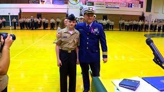 JROTC cadet saves a life and receives an award