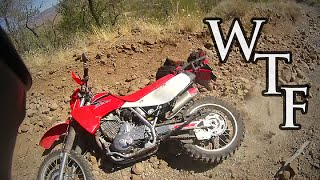3. Honda XR650L - Trying To Ride Up A Mountain
