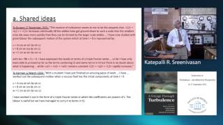 """Lecture by Katepalli R. Sreenivasan on life and work of Geoffrey Ingram Taylor Symposium on """"Turbulence - the Historical..."""