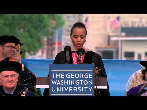 Washington - George Washington University alumna, actor and activist Kerry Washington, star of hit TV show Scandal, was the commencement speaker for the 2013 George Washi...