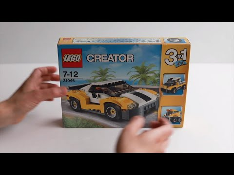 LEGO CREATOR 31046 3 IN 1 FAST CAR- Unboxing Play & Review
