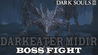 Hardest boss of the DLCDarkeater Midir is found in The Ringed City: After opening the shortcut near the Ringed Inner Wall bonfire in The Ringed City, head down the lift and hop out the door to your left half way down the lift. Head left and open the illusory wall to the right of the ember laying here. Go down the ladder into the shrine area and drop down the hole behind the altar.Must have fought him past the Swamp. You will need to cross the bridge that Midir torches continuously and make your way up the ruined stairwell (past the Moaning Knight). There will be another bonfire and Midir will be waiting for you on the other side of it. Simply drain his health and knock him off the side of the cliff and he will be waiting for you in his boss room.====================================================Feel free to support my Patreon, so I can buy a new microphone!https://www.patreon.com/user?u=4557506====================================================