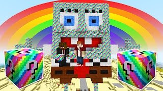 LUCKY RAINBOW BLOCKS SPONGEBOB BIKINI BOTTOM MOD CHALLENGE - MINECRAFT MODDED MINI-GAME!