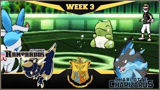 AN ABSOLUTE SUBSTITUTE! St. Louis Rampardos vs Charlotte Charizards    APA Week 3   Pokemon USUM by aDrive