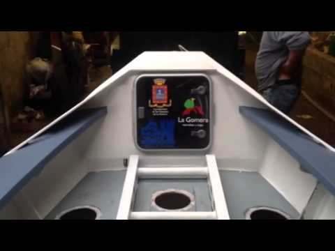 A guided tour of an ocean rowing boat.