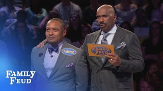 Can Kenny and Patrick get it done? SUBSCRIBE: http://bit.ly/FamilyFeudSub Visit our NEW STORE: manicmerch.com/familyfeud PLAY the new FEUD MATCHES: ludia.gg/...