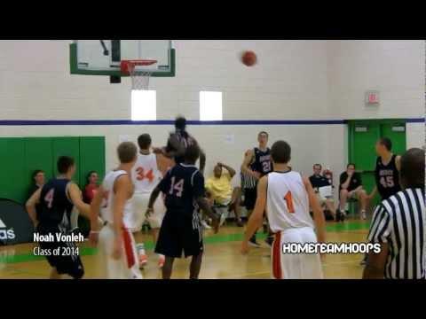 6'7 Sophomore Noah Vonleh Highlights vs. Indiana Elite. Alex Etherington Dunks On Defender.
