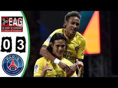 Guingamp vs PSG 0-3 - All Goals & Highlights - Neymar First Goal - 13/08/2017
