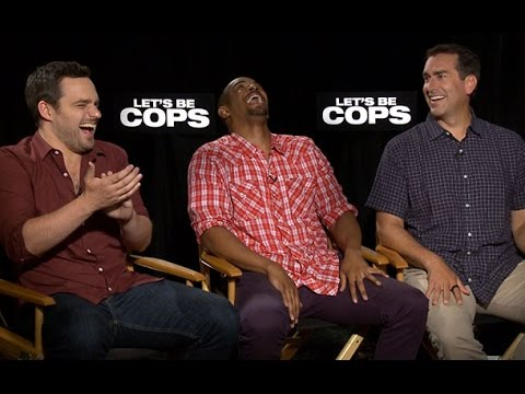 Let's Be Cops Trailer & Interview: Rob Riggle, Jake Johnson, & Damon Wayans Jr Talk Possible Sequels