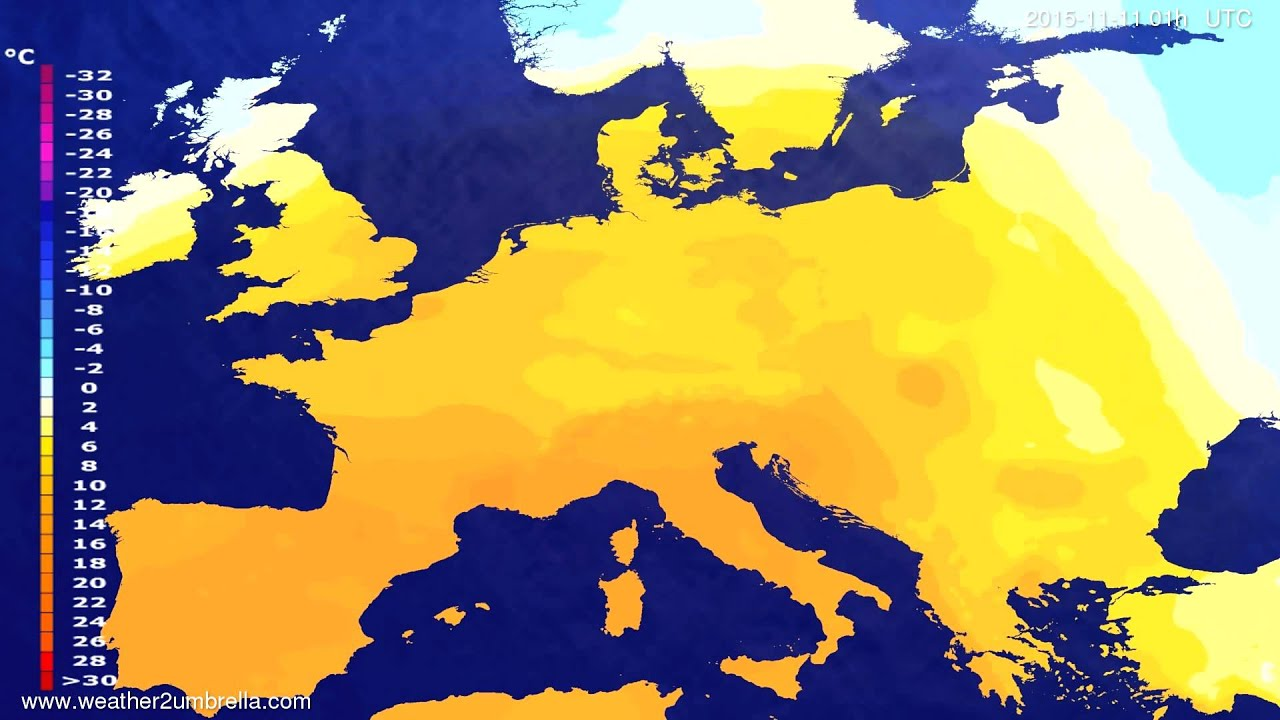 Temperature forecast Europe 2015-11-08