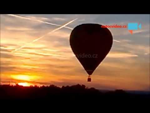 Balón při přistání