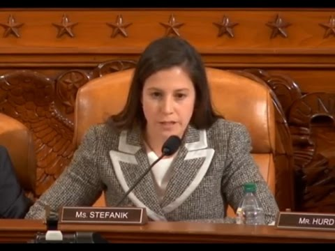 Rep. Elise Stefanik asks questions at Comey hearing