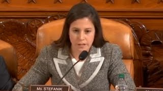 Rep. Elise Stefanik asks questions at Comey hearing