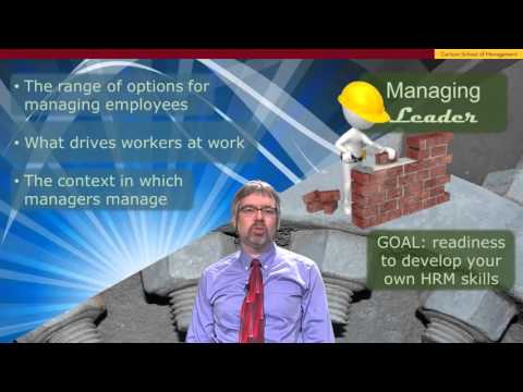 We suggest a good Mooc for you : Preparing to Manage Human Resource - University of MINNESOTA