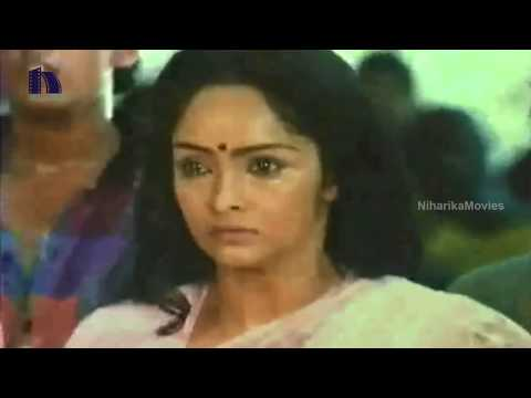 Rajani Bathing Scene - Jaggayya Blackmails Scene - Jeevana Ganga Movie Scenes