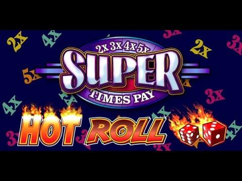 Hot Roll Super Times Pay - IGT Slot Machine Bonus Win!!!