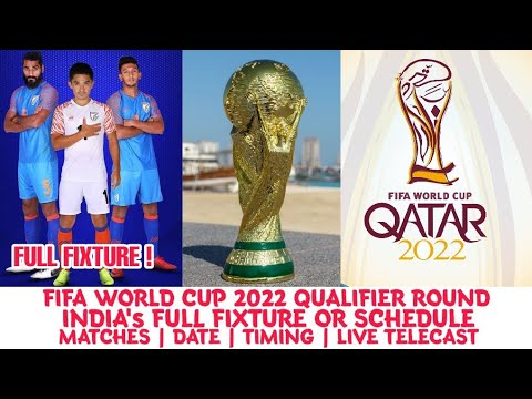 FIFA WC 2022: India's Full Fixture Or Schedule For FIFA WC 2022 Qualifier Round | Live Telecast | In
