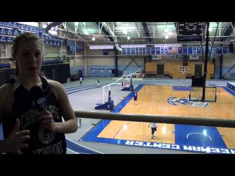 CNU Women's Basketball Trick Shot - Makenzie Fancher