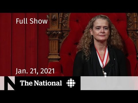 CBC News: The National | Julie Payette resigns as Governor General | Jan. 21, 2021