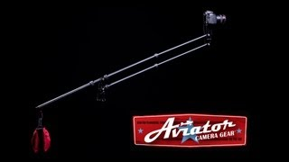 http://AviatorCameraGear.com The Aviator Travel Jib is an ultra light weight, professional, compact camera jib (camera crane) that lets you get cinematic, sweeping camera moves anywhere in the world. Micro jib. Mini jib. Travel jib. If you are looking for the worlds only professional jib that can fit in a backpack, The Aviator is the jib for you.