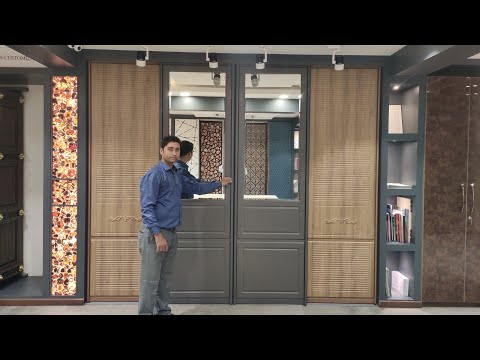 Sliding doors Design Video || Sliding Partition Profile Doors | Wood Face