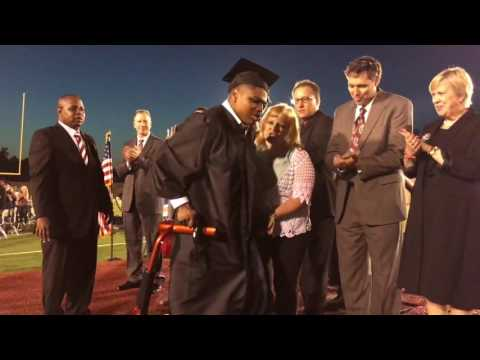 Teenager Walks in Public for the First Time at His High School Graduation