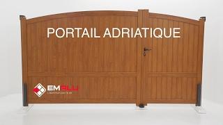 Portail aluminium battants inégaux EMALU - Adriatique