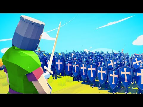 1 KNIGHT vs. 10.000 PEASANTS! (Totally Accurate Battle Simulator)