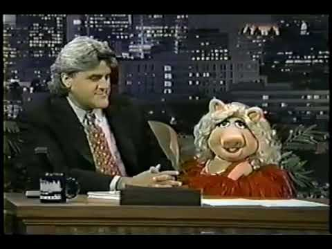 Miss Piggy on the Tonight show with Jay Leno in 1996