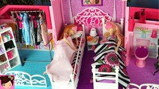 Video Barbie House Morning Routine Princess Bedroom Frozen Queen Elsa & Anna - Barbie Car , Doll Dress up MP3, 3GP, MP4, WEBM, AVI, FLV Januari 2019
