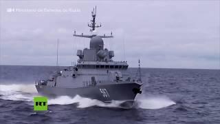 Buques rusos eliminan al enemigo con todo tipo de armamentos durante ejercicios