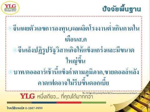 YLG บทวิเคราะห์ราคาทองคำประจำวัน 14-09-15