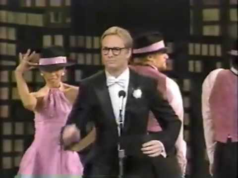 Bill Irwin - His whole appearance was an in-joke for the audience; he'd just had a big success for The Regard of Flight so THEY (the hip NYC audience) knew who he was but...