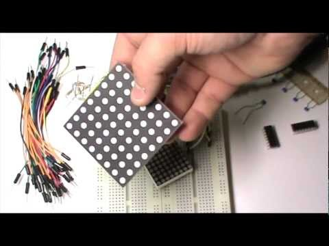 Tutorial Arduino #0008 - Matriz Led Arduino y 74HC595 (registro de desplazamiento)