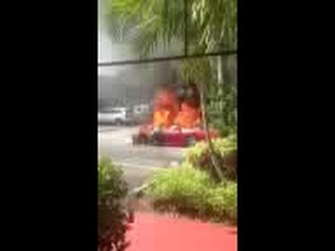 Ferrari found on fire in parking lot in Boca Raton