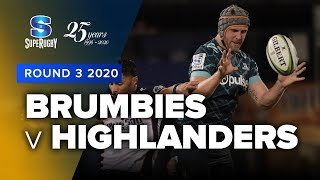 Brumbies v Highlanders Rd.3 2020 Super rugby video highlights | Super Rugby Video Highlights