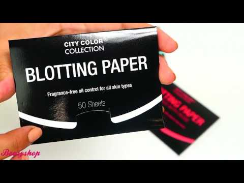 City Color City Color Blotting Paper Infused with Green Tea