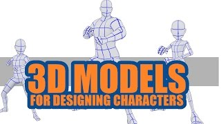 3D models modified to create diff. characters- Clip studio paint