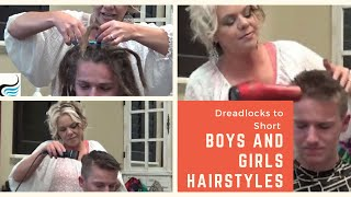 Video Dreadlock Removal -Short Mens Haircut Hairstyles  (Cut Dreadlocks Off) MP3, 3GP, MP4, WEBM, AVI, FLV Juli 2018