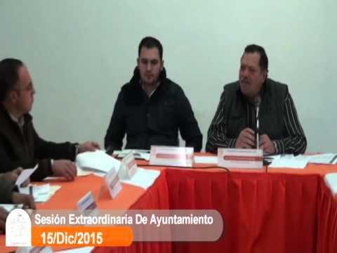 Sesión Extraordinaria No. 6 de Ayuntamiento 15 de diciembre de 2015